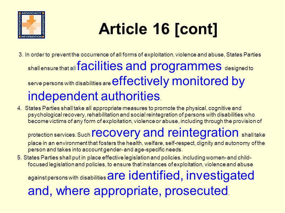 Article 16 [cont]
